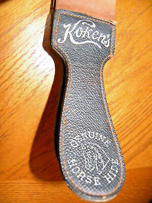Vintage Koken'S Brand Razor Strop OUTSTANDING CONDITION HORSE HYDE AND LEATHER