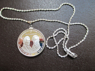 Lewis & Clark Expedition Necklace 1 troy oz. 999 SILVER on 24 s/s rope chain