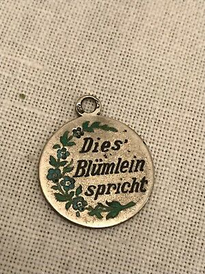 Charm Anhänger Charms Email Silber Bettelarmband Vergissmeinnicht Forget me not