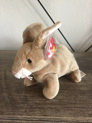 TY Beanie Baby Nibbly The Rabbit Retired Born  May 7, 1998