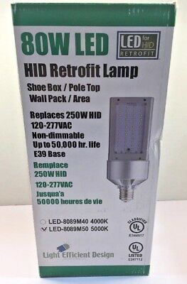 Light Efficient Design 80 Watt LED Retrofit Bulb 5000K LED-8089M50