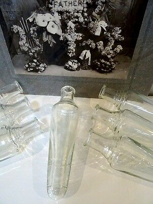 antique FUNERAL CAR flower vase (s) Victorian automobile BUD VASE clear glass