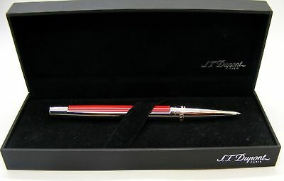 S.T. Dupont Defi Ballpoint Pen, Red With Palladium Accents, 405703, New In Box