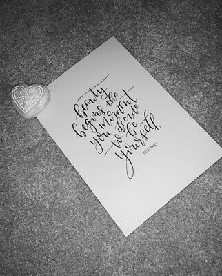A4 Coco Chanel Motivational Quote Print Poster High Quality Unframed