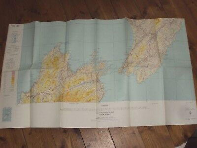 Topographical Map Of Cook Strait - Large Fold Out 1969