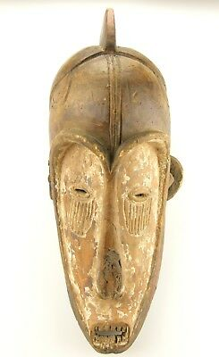 Vintage Fang Mask Ngil Society Gabon African Art Early 1900's