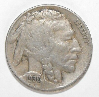 1930S Buffalo Nickel, Circulated and ungraded
