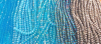 Aqua Sky Blue Sapphire Silver Chinese Crystal Rondelle Rondell 8x5mm 2 Strands