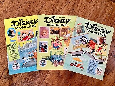3 Vintage issues DISNEY MAGAZINE 1976 & 1977 - Proctor Gamble Give-away Promo