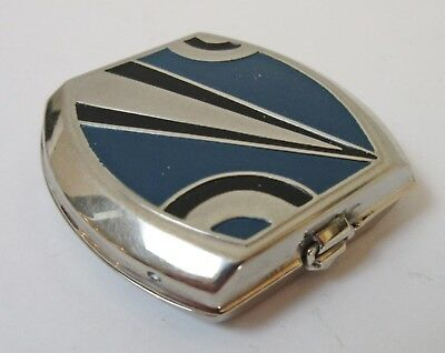 Antique Art Deco Enamel Compact Powder