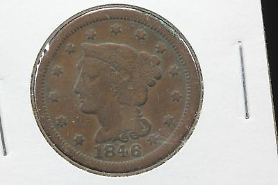 1846 Braided Hair Large Copper Cent