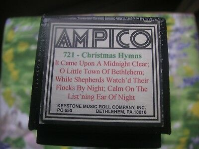 ampico player piano roll 721 christmas hymns