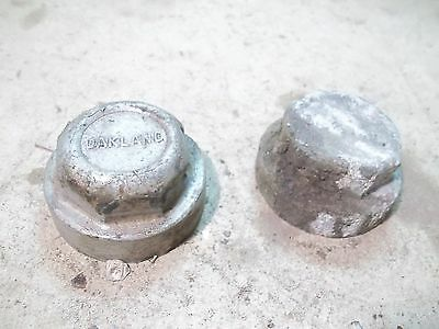 2 Old Oakland Screw-on Hubcaps