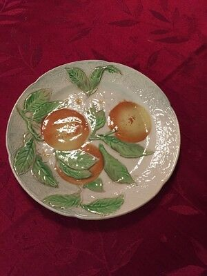 St. Clement France Majolica Oranges And Blossoms Plate