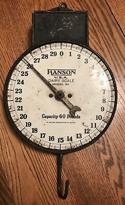 Vintage Hanson Dairy Scale Model 60 60pounds Chicago USA