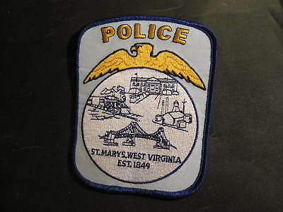 """Police St. Mary's West Virginia WV est 1849 patch new train bridge eagle 5"""" tall"""