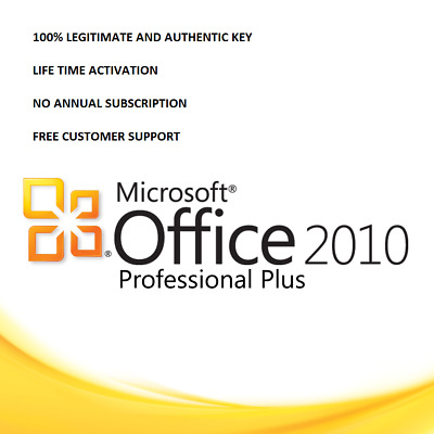 MS OFFICE 2010/13 ACTIVATION KEY AND DOWNLOAD LINK(32/64 Bit) INSTANT DELIVERY
