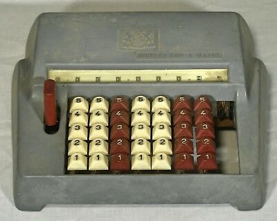Vintage Speedee Add O Matic adding machine Japan parts repair