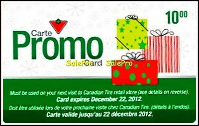 Canadian Tire Store Promo Carte Rare Barcoded Bilingual Collectible Gift Card