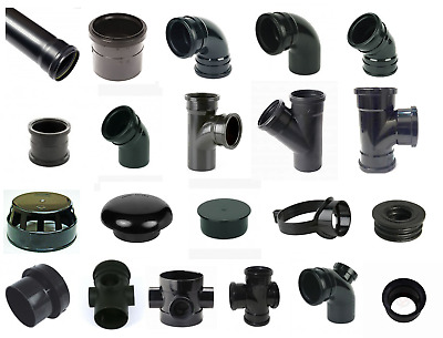 "Black Soil Pipe and Ring Seal Fittings UPVC 110mm (4"") External Or Internal Use"