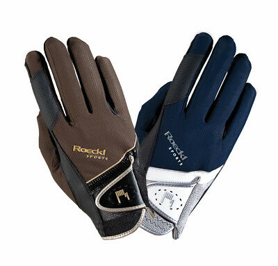 Roeckl Patent Trim Gloves Navy Adults