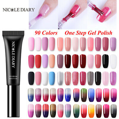 8ml NICOLE DIARY One step UV Gel Polish Pen 3 in 1 Soak Off Nail Art Manicure