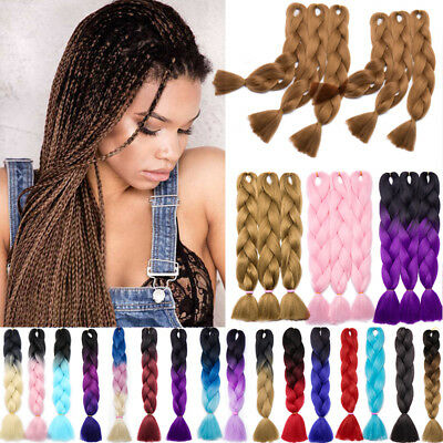 100g/pc Jumbo Braiding hair extensions African Box Braid Crochet Style Color AI5
