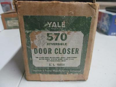 Vtg Yale Door Closer Heavy Duty Industrial Steampunk #570 Complete