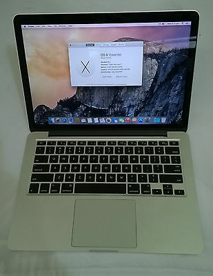 "Apple MacBook Pro A1425 13"" Intel Core i7 @3.0Ghz 8GB RAM Memory, 256GB SSD"