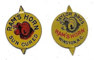 Vintage Ram's Horn Tobacco Tags....Taylor Bros....Set of 2 Different