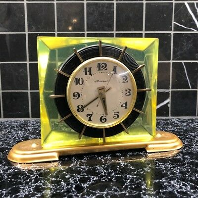 Wonderful Table clock Molnija Mechanical Vintage TESTED home decor Ussr Soviet