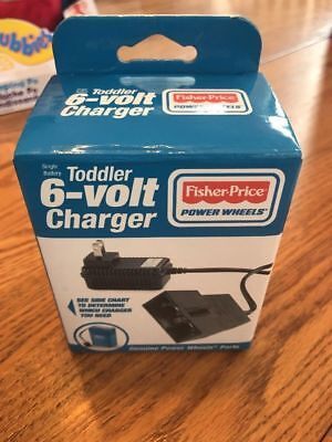 Fisher Price 6-Volt Charger for Fisher-Price Power Wheels Toddler Blue Battery