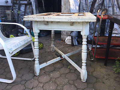 WHITE  Kitchen Table-all wood handy man special base only