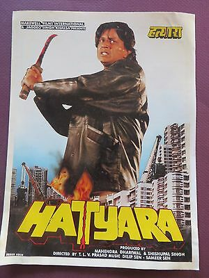 Press Book Indian Movie promotional Song booklet Pictorial Hatyara (1998)