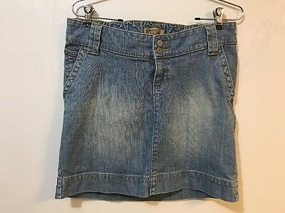 Old Navy Maternity Size 2 Skirt Denim Pencil Above Knee Underbelly