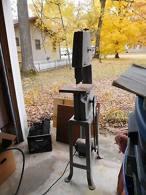 """Vintage Delta Rockwell 10"""" Vertical Band saw and Stand w/ blade BO"""