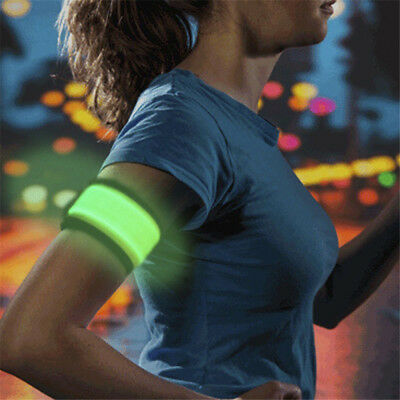 LED Flashing Safety Night Reflective Belt Strap Arm Band for Cycling Running New