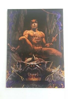 2018 Marvel Masterpieces Purple Parallel #d /199 DAREDEVIL #80