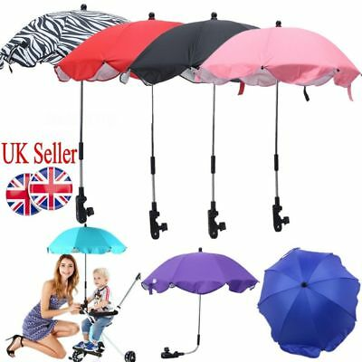UK Baby Sun Umbrella Parasol Buggy Pushchair Pram Stroller Shade Canopy Covers