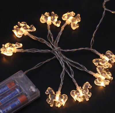 Crystal Little Foal Horse String Light Christmas Wedding Party LED Decor Battery