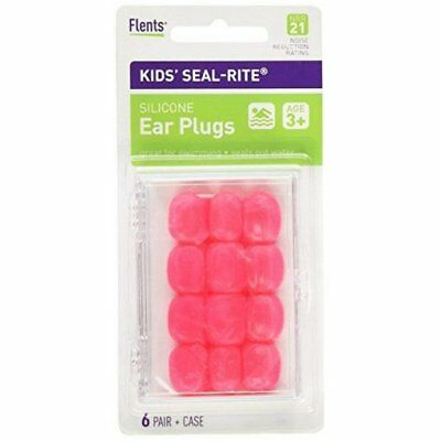 Flents Kid's Silicone Ear Plugs C265 6 Pairs (Color May Vary) (Pack of 12)