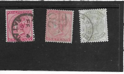 Natal. Queen.   Selection Of 3  Fine Used.  As Per Scan
