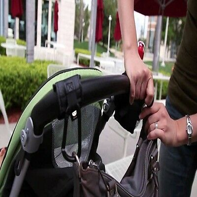 Universal Buggy Pram Pushchair Stroller Hook Shopping Bag Holder Clip QK