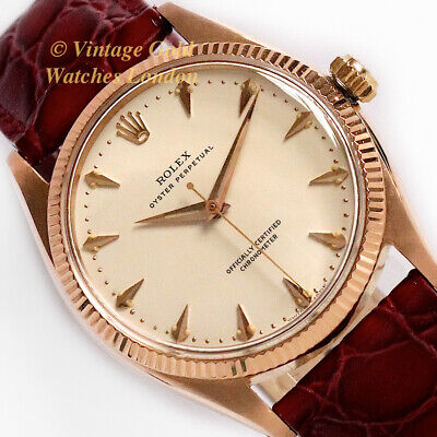 Rolex Oyster Perpetual, 18K Pink, 1954 - Very Rare And Immaculate!