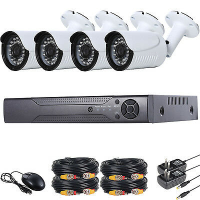4CH 960P Outdoor Surveillance CCTV AHD Security Wired Bullet Camera DVR Kit,