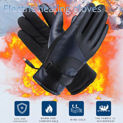 Men Women Rechargeable Electric Warm Heated Gloves Powered Heat Gloves