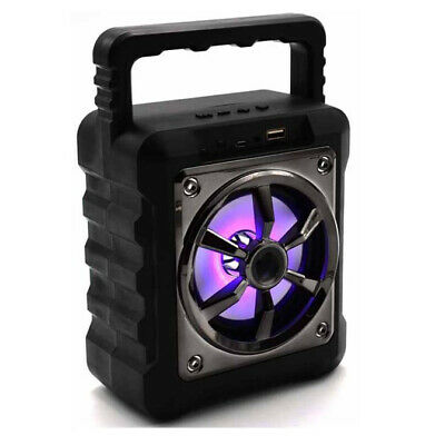 Cassa Portatile Con Radio Fm Usb Sd Mp3 Bluetooth Tablet Smartphone Speaker Pc