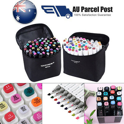 40/60/80 Colors Sets Oil marker Pen Dual Headed Artist Sketch Copic Animation AU