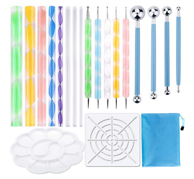 19PCS Mandala Dotting Tools with Blue Waterproof Storage Bag for Painting Rocks