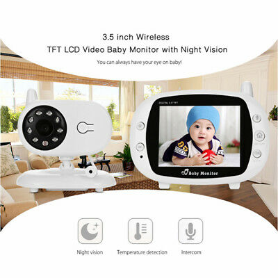 """3.5"""" LCD Digital Wireless Baby Monitor Video Audio Night Vision Security Temper"""